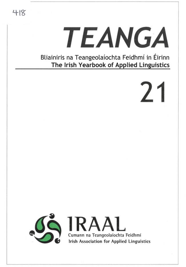 TEANGA 21 cover